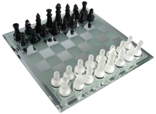 Glass Chess Set Avant Garde
