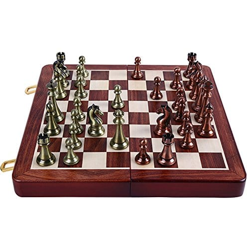 Metal Chess Sets Agirlgle