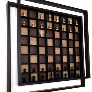 "AMBRIZZOLA Quadretti 29"" Wall Chess Set, 22"" playing area, 2.5"" King"