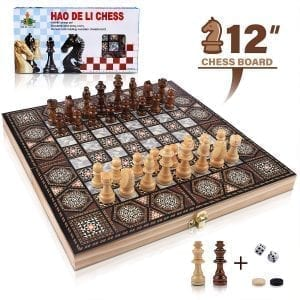 Wood Chess Sets VIRIITA 3-in-1