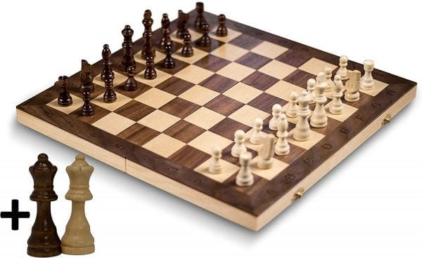 "GrowUpSmart Smart Tactics 16"" Folding Chess Set - Standard Edition"